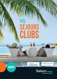 SEJOURS CLUBS 2021
